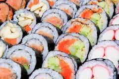 美味被安排的查找的寿司 免版税库存照片