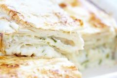 美味lavash乳酪饼 免版税库存照片
