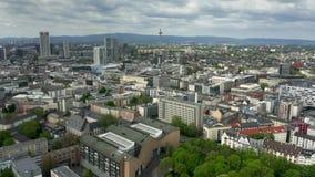 美因河畔法兰克福都市风景,鸟瞰图 股票录像
