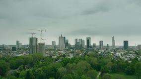 美因河畔法兰克福,德国空中建立的射击  股票视频