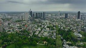 美因河畔法兰克福,德国高处鸟瞰图  股票视频