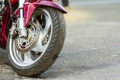 美因法,德国- 2017年10月14日:体育motorcy前轮  免版税库存照片