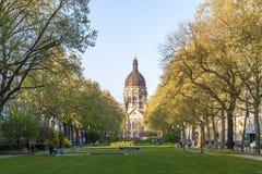 美因法,德国- 2017年11月12日:城市的历史的中心 库存照片