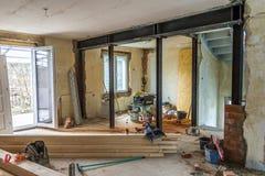 美因法,德国- 2017年11月12日:老房子内部在期间 库存图片