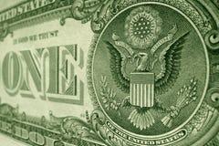 美国一美金,以一和美国老鹰为特色 库存图片