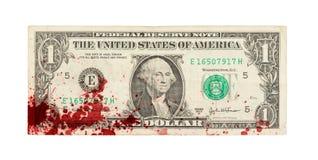 美国一美金,关闭,血液 免版税库存照片