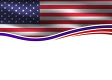 美国下垂爱国横幅 免版税库存照片