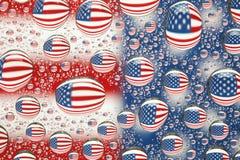 美国下落标志水 免版税库存图片