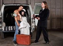 美国东南部山区的农民婚礼 免版税库存图片