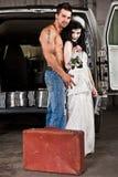 美国东南部山区的农民婚礼 库存图片