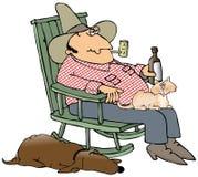 美国东南部山区的农民宠物 免版税库存照片