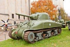 美国中型油箱谢尔曼M4A1 免版税库存照片
