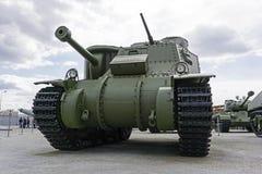 美国中型油箱M3A5李在军用设备博物馆  免版税库存照片