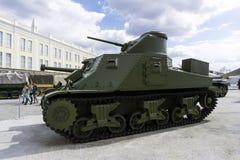 美国中型油箱M3A5李在军用设备博物馆  免版税库存图片
