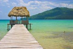 美国中央危地马拉小屋码头 图库摄影
