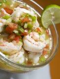 美国中央ceviche新鲜的尼加拉瓜虾 库存照片