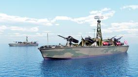 美国二战鱼雷艇  库存照片