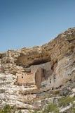美国亚利桑那城堡窑洞印第安montezuma纪念碑国民 库存照片