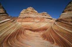 美国亚利桑那Paria峡谷银朱的峭壁原野波浪砂岩岩层 免版税库存图片