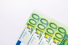 美国人一百元钞票 欧元注意反映 免版税库存照片