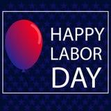 美国人与全国颜色球的劳动节横幅  免版税库存图片