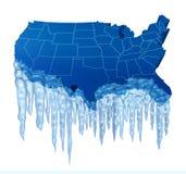 美国人冷冻 向量例证