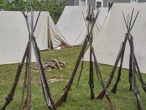 美国人南北战争步兵步枪 免版税库存图片