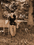 年轻美国人南北战争Reenactor 免版税库存图片