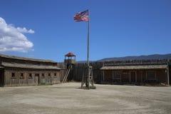 美国人的镇西部在堡垒喝彩声阿尔梅里雅安大路西亚 库存照片