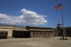 美国人的镇西部在堡垒喝彩声阿尔梅里雅安大路西亚 库存图片