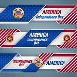 美国人的,独立日横幅 免版税库存图片