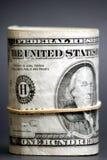 美国人票据美元卷 库存图片
