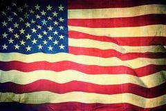 美国人美国旗子背景葡萄酒纹理 免版税库存图片