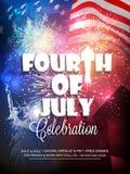 美国人美国独立日庆祝的时髦的文本 库存例证