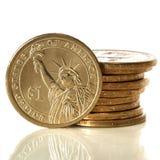 美国人铸造美元 免版税库存照片
