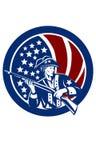 美国传染媒介ClipArt -美国爱国者,退伍军人 免版税库存照片