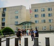 美国使馆保安-柏林 免版税库存照片
