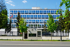 美国使馆在华沙,波兰 库存图片