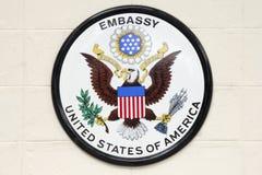 美国使馆 库存照片