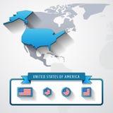 美国信息卡片 向量例证