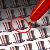 美国候选人选择 免版税库存照片