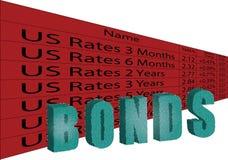 美国债券 皇族释放例证