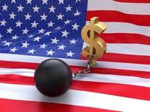 美国债务 免版税库存照片