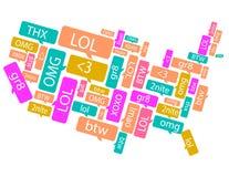 美国做了在正文消息外面 免版税库存图片