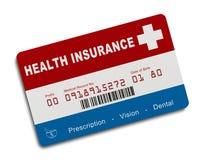 美国健康保险卡片 免版税图库摄影