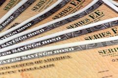 美国储蓄公债-系列EE 库存照片