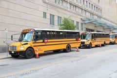 美国公共汽车学校 免版税库存照片