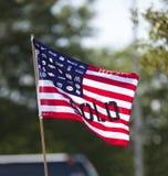 美国公司旗子 免版税图库摄影