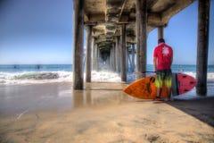 2015年美国公开赛站立用浆划,亨廷顿海滩 免版税库存图片