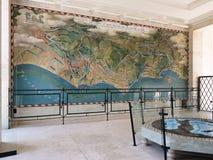 美国军事公墓的战略着陆地图在聂图诺 图库摄影